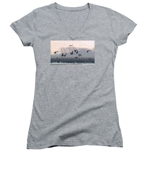 Platte River Morn Women's V-Neck