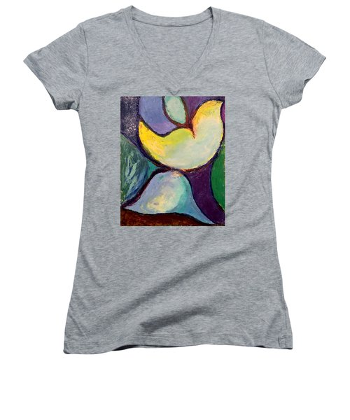 Play Of Light Women's V-Neck (Athletic Fit)