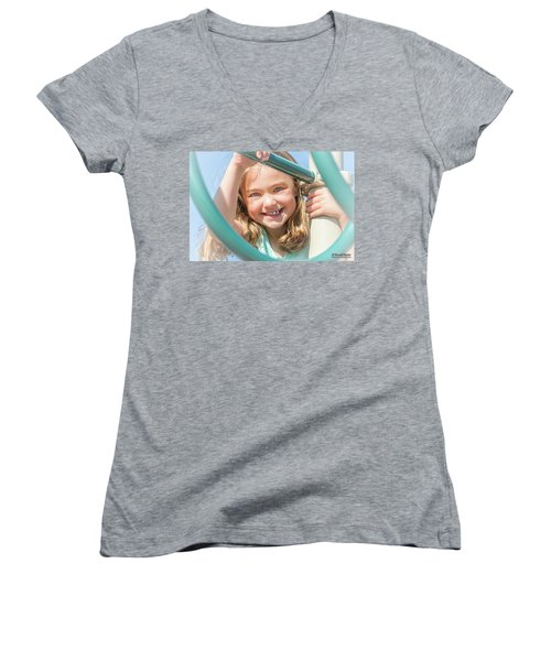 Playground Fun Women's V-Neck T-Shirt