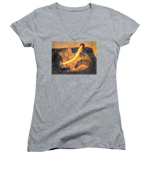 Playing With Fire Women's V-Neck