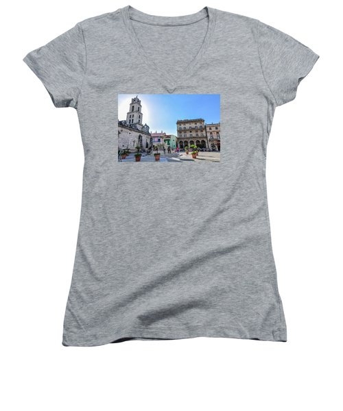 Plaza De San Francisco De Asis Women's V-Neck (Athletic Fit)