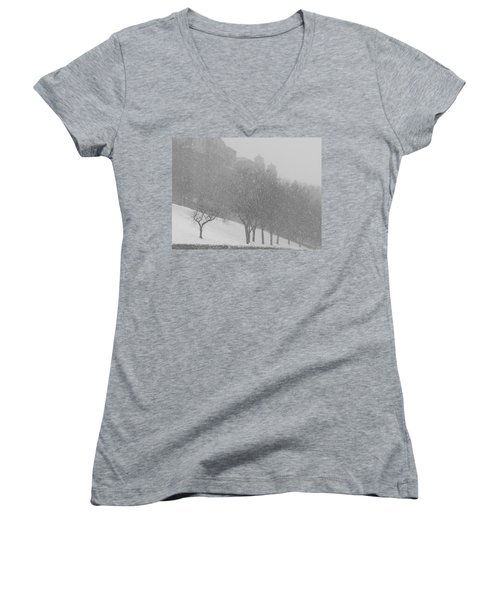 Plaza Impressionism With Kc Snow Women's V-Neck