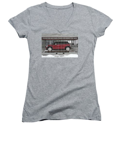 Please Do Not Feed Tease Or Annoy The Mini Women's V-Neck T-Shirt (Junior Cut)