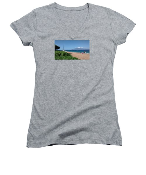 Please Stay Women's V-Neck (Athletic Fit)