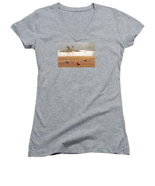Plockton Sailboats Women's V-Neck T-Shirt