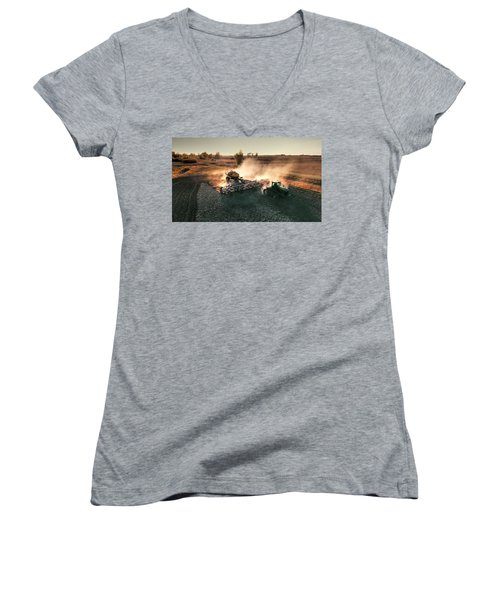 Plow The Fields And Scatter  Women's V-Neck