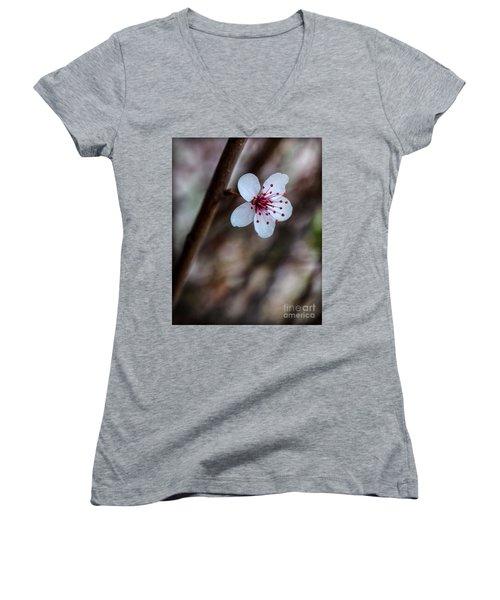 Plum Flower Women's V-Neck