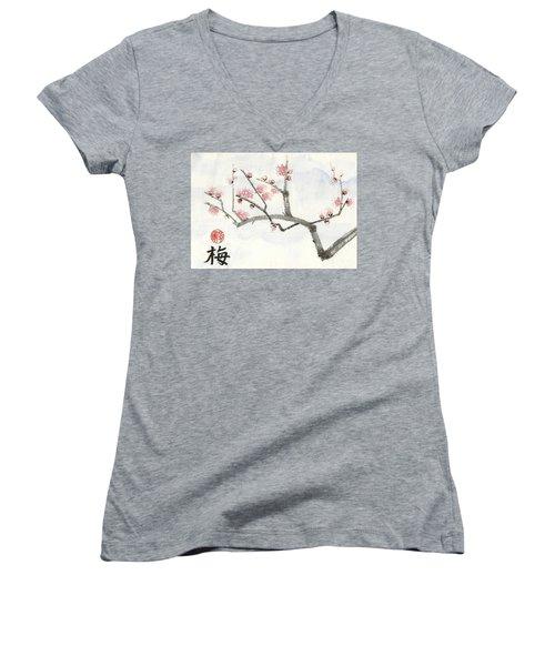 Plum Ume Branch Women's V-Neck T-Shirt