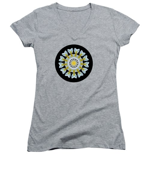 Plumeria Mandala By Kaye Menner Women's V-Neck (Athletic Fit)