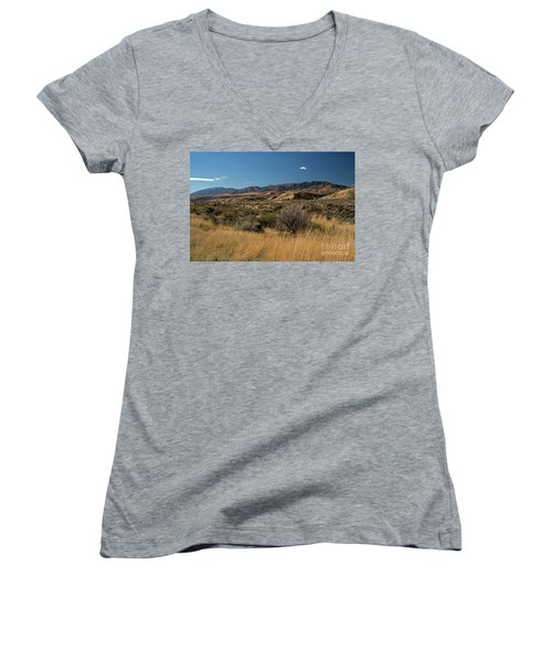 Pocatello Area Of South Idaho Women's V-Neck T-Shirt (Junior Cut) by Cindy Murphy - NightVisions