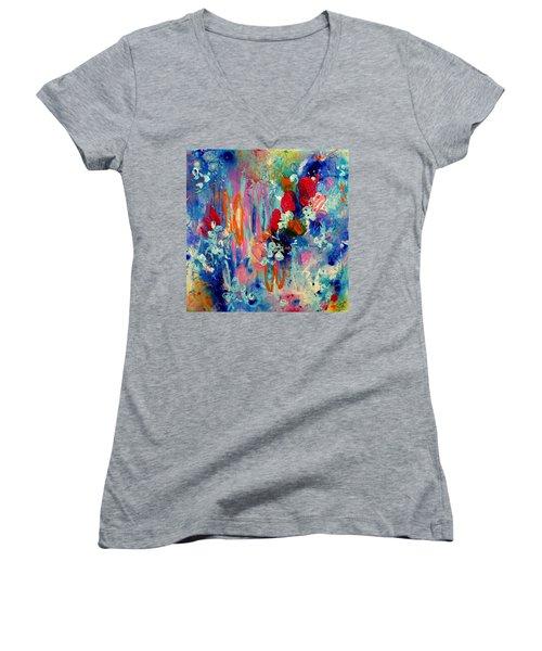 Pocket Full Of Horses 3 Women's V-Neck T-Shirt (Junior Cut) by Tracy Bonin