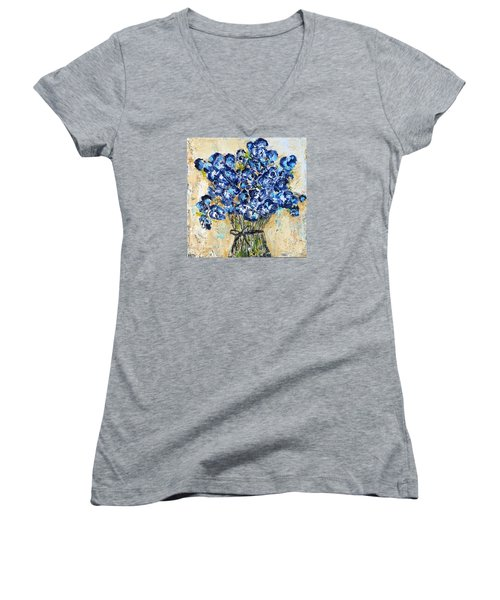 Pocket Full Of Posies Women's V-Neck T-Shirt