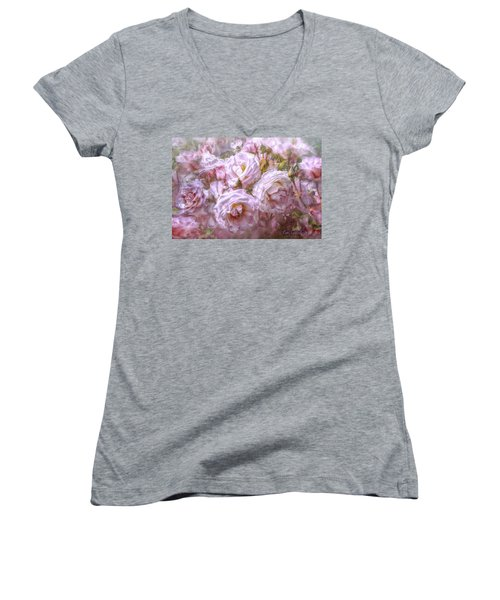 Pocket Full Of Roses Women's V-Neck (Athletic Fit)