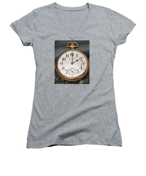 Pocket Watch Women's V-Neck