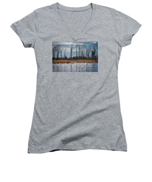 Pocosin Lakes Nwr Women's V-Neck