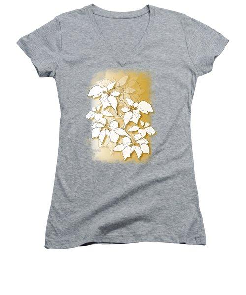 Poinsettias Women's V-Neck T-Shirt