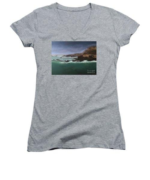 Point Lobos Monterey Women's V-Neck T-Shirt