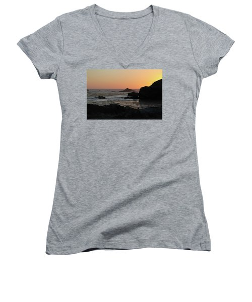Point Lobos Sunset Women's V-Neck