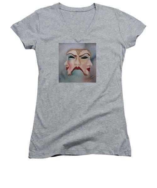 Poison And Wine Women's V-Neck T-Shirt (Junior Cut) by Teresa Beyer