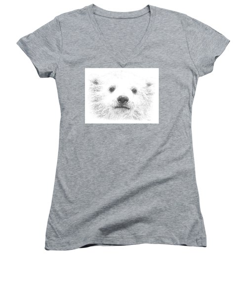Polar Bear Cub Women's V-Neck