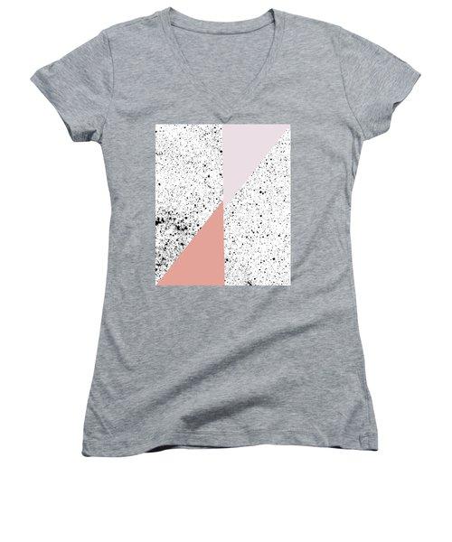 Polka Art Women's V-Neck T-Shirt