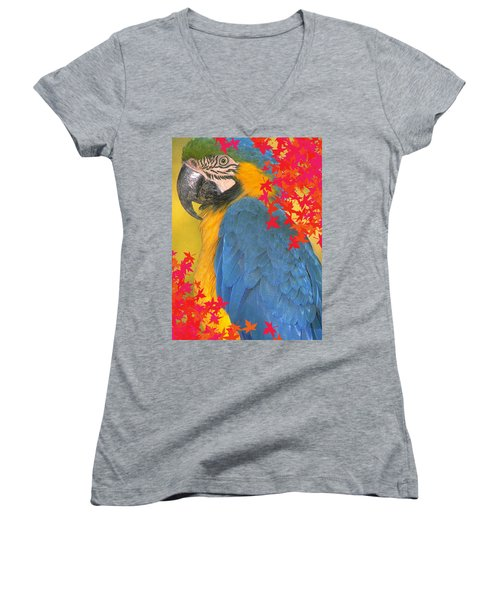 Polly Parrot Women's V-Neck (Athletic Fit)