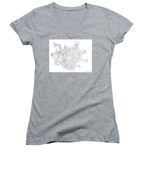 Polymer Crystallization With Modifiers Women's V-Neck T-Shirt