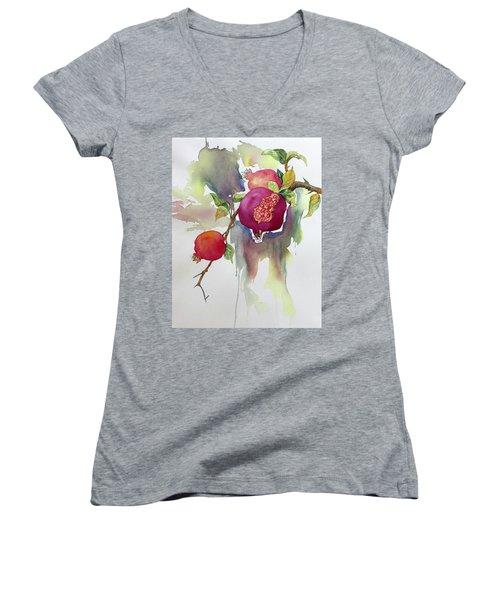 Pomegranates Women's V-Neck