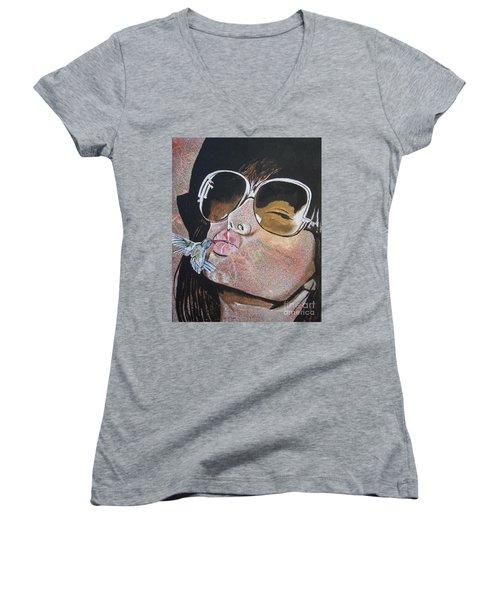 Ponce De Leon Women's V-Neck T-Shirt (Junior Cut) by Stuart Engel