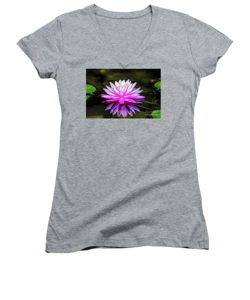 Pond Water Lily Women's V-Neck