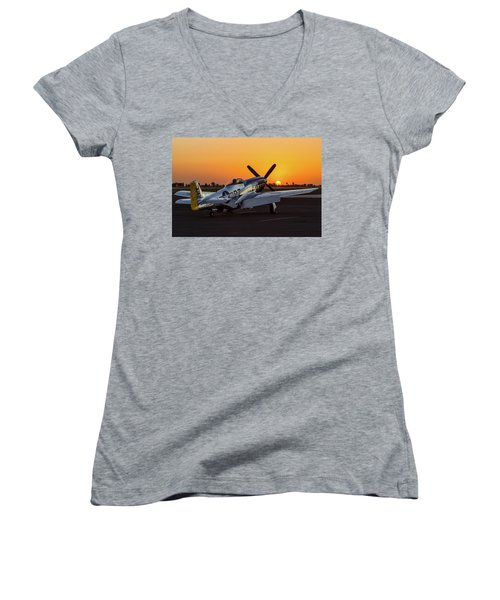 Pony In Repose Women's V-Neck