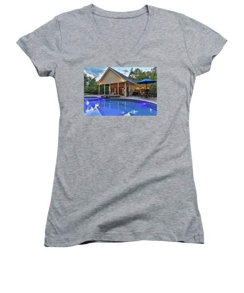 Pool House Women's V-Neck (Athletic Fit)