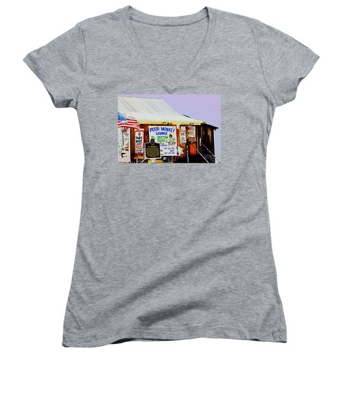 Poor Monkey's Juke Joint Women's V-Neck T-Shirt