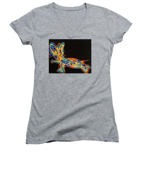 Pop Art Women's V-Neck T-Shirt