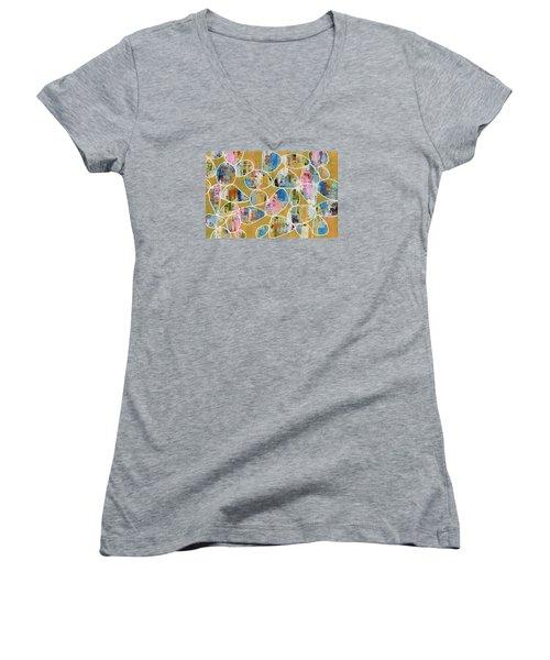 Pop The Champagne Women's V-Neck T-Shirt (Junior Cut)
