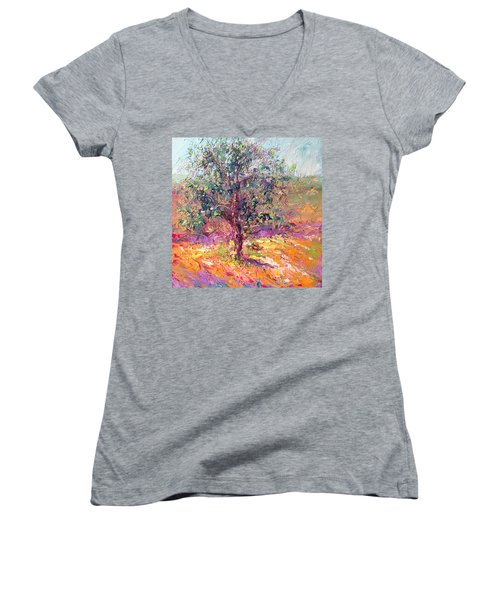 Poppies And Lupine Women's V-Neck (Athletic Fit)