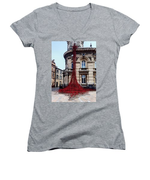 Poppies - City Of Culture 2017, Hull Women's V-Neck