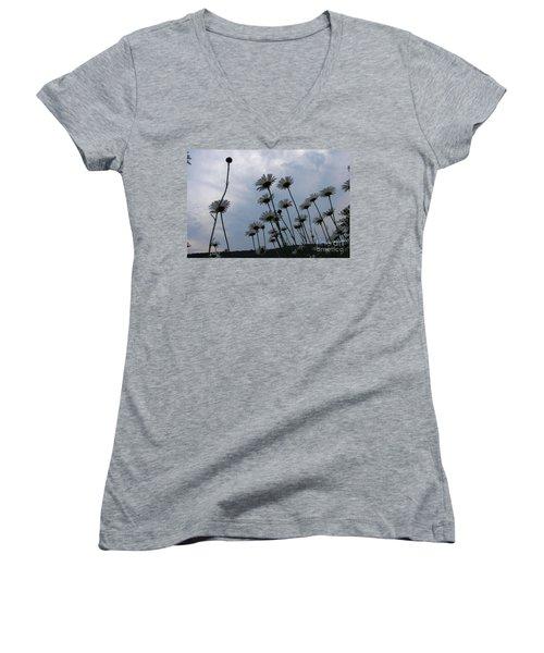 Poppin Women's V-Neck T-Shirt