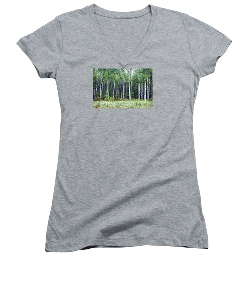 Popple Trees Women's V-Neck (Athletic Fit)