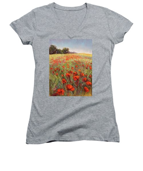 Poppy Dance Women's V-Neck
