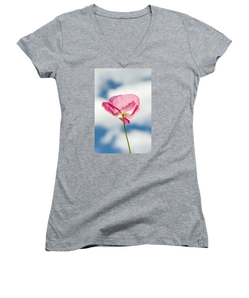 Poppy In The Clouds Women's V-Neck