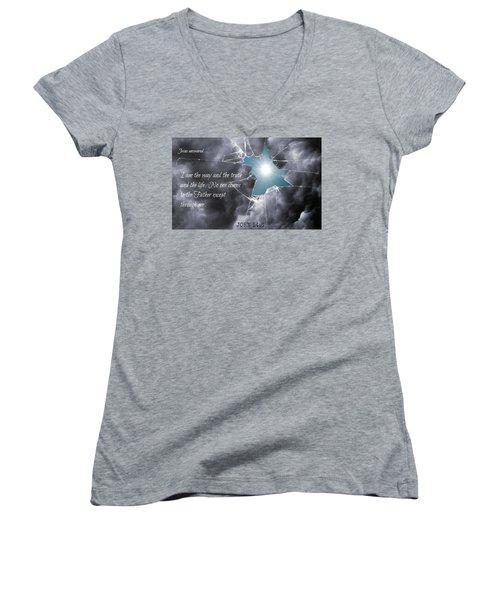 Popular218 Women's V-Neck T-Shirt (Junior Cut) by David Norman