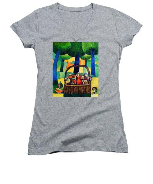 Porcini Women's V-Neck T-Shirt