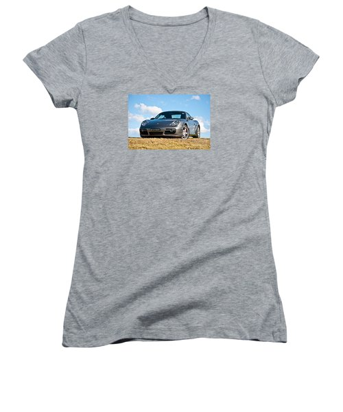 Porsche Cayman Women's V-Neck T-Shirt