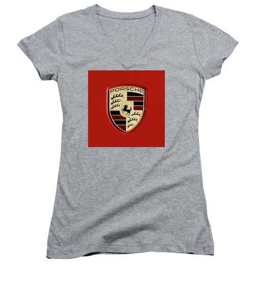 Porsche Power Red 111216 Women's V-Neck