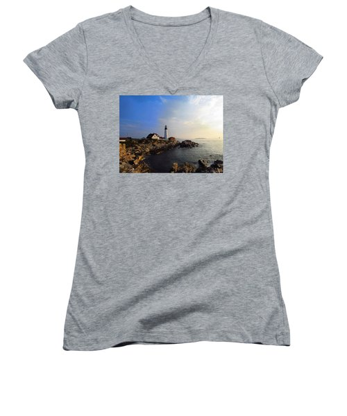 Portland Headlight Morning Glow Women's V-Neck
