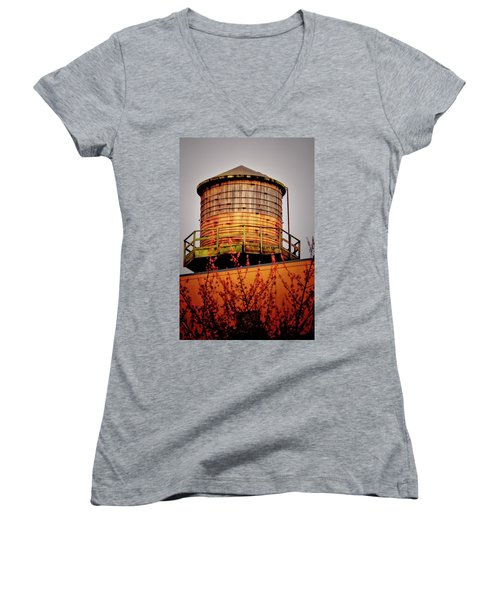 Portland Water Tower IIi Women's V-Neck T-Shirt