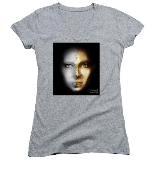 Portrait Women's V-Neck T-Shirt