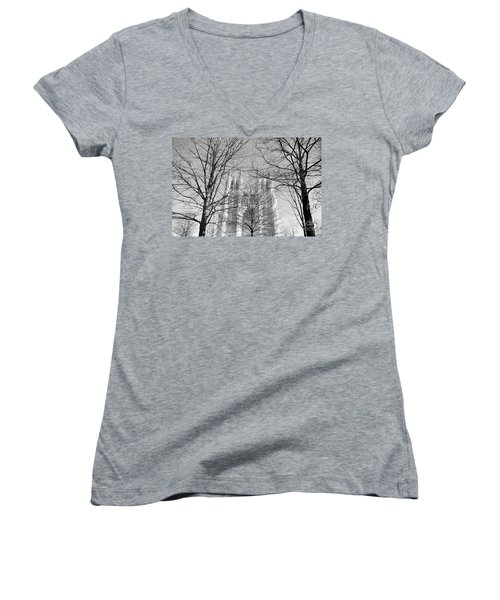 Portrait Of A Cathedral Women's V-Neck T-Shirt