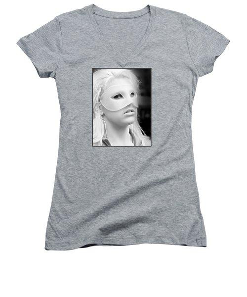 Portrait Of A Masked Heroine Women's V-Neck T-Shirt (Junior Cut)